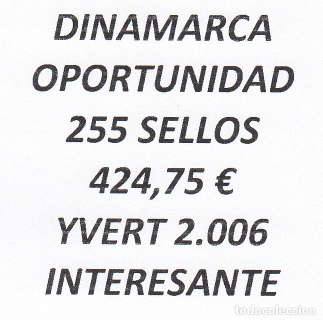 INTERESANTE LOTE DINAMARCA, COMPUESTO POR 255 SELLOS, CON 424,75 € CATALOGO YVERT 2.006 + (Sellos - Extranjero - Europa - Dinamarca)