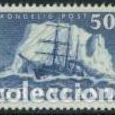 Sellos: SELLO USADO DE GROENLANDIA 1950, YT 24. Lote 287978413