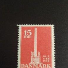 Sellos: ## DINAMARCA NUEVO 1938 MONUMENTO 15 ORE##. Lote 288913498