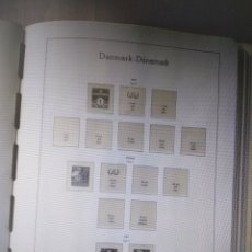 Sellos: ALBUM PARA SELLOS DE DINAMARCA MONTADO EN 64 HOJAS LEUCHT 1904/1985 COMPLETO. Lote 293583153