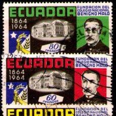 Sellos: LOTE SELLOS ECUADOR /PERSONAJES CELEBRES/MANDATARIOS/PRESIDENTES (AHORRA COMPRANDO MAS SELLOS. Lote 22445844