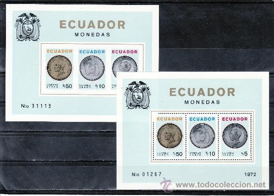 ECUADOR HB 23/A SIN DENTAR SIN CHARNELA, MONEDAS, (Sellos - Extranjero - América - Ecuador)