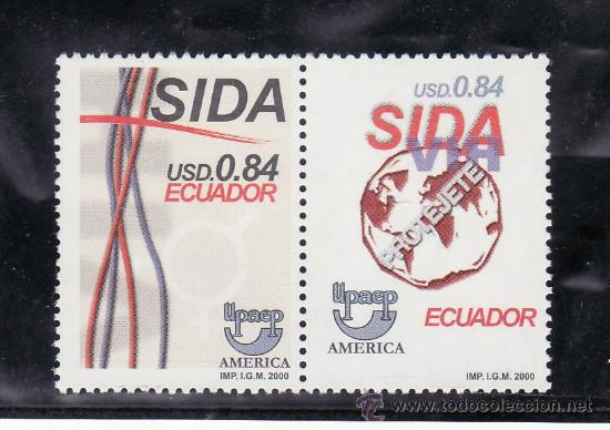ECUADOR 1532/3 SIN CHARNELA, TEMA UPAEP, MEDICINA, LUCHA CONTRA EL SIDA, (Sellos - Extranjero - América - Ecuador)