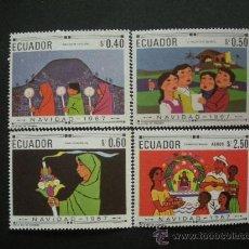 Sellos: ECUADOR 1967 IVERT 794C/D Y AEREO 494A*** NAVIDAD. Lote 29791591