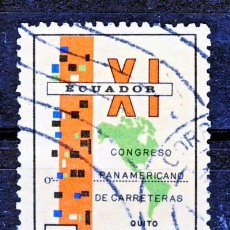 Sellos: ECUADOR.- XI CONGRESO PANAMERICANO DE CARRETERAS: QUITO, NOVIEMBRE 1971.-(3). Lote 30522867