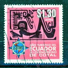 Sellos: ECUADOR.- AÑO TURISTICO DEL ECUADOR.- XI CONGRESO DE COTAL.-. Lote 30531744