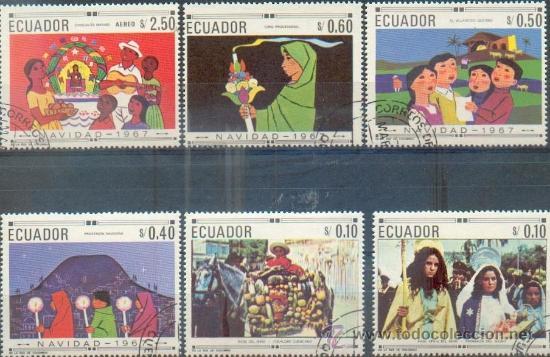 ECUADOR NAVIDAD - SERIE COMPLETA.- GRANDES SELLOS (Sellos - Extranjero - América - Ecuador)