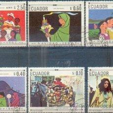 Sellos: ECUADOR NAVIDAD - SERIE COMPLETA.- GRANDES SELLOS. Lote 31197975