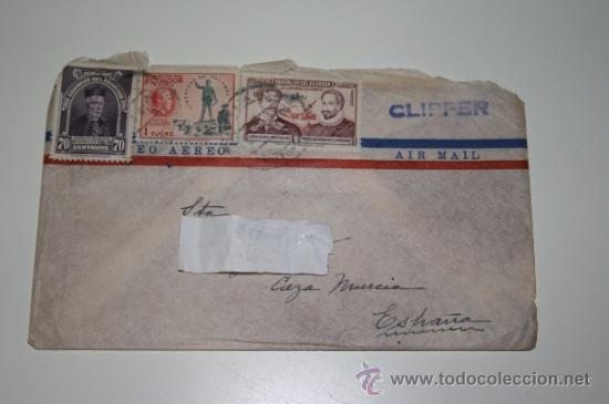 SOBRE CORREO AEREO CON SELLOS DE ECUADOR. AÑOS 40 /50. (Sellos - Extranjero - América - Ecuador)