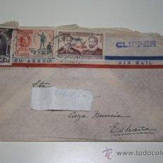Sellos: SOBRE CORREO AEREO CON SELLOS DE ECUADOR. AÑOS 40 /50.. Lote 34415793