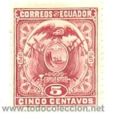 Sellos: 2ECUADOR-111. SELLO USADO ECUADOR. YVERT Nº 111. ESCUDO. Lote 38970349