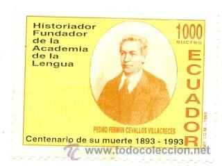 2ECUADOR-1276. SELLO USADO ECUADOR. YVERT Nº 1276. PEDRO FERMIN CEBALLOS (Sellos - Extranjero - América - Ecuador)