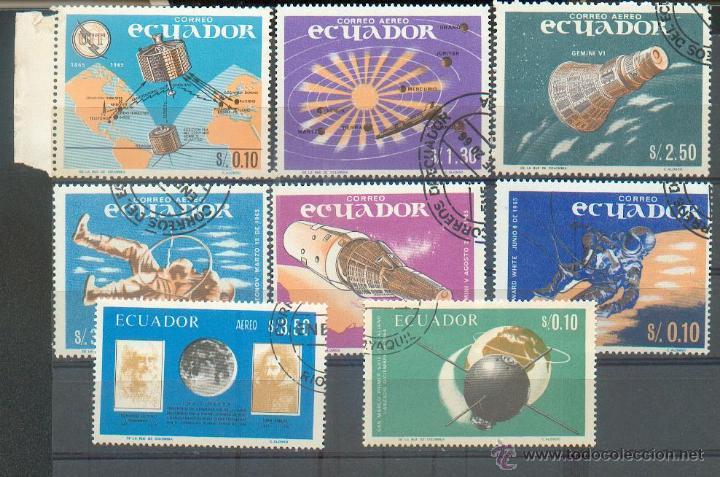 SERIE DEDICADA A LA CONQUISTA ESPACIAL (Sellos - Extranjero - América - Ecuador)