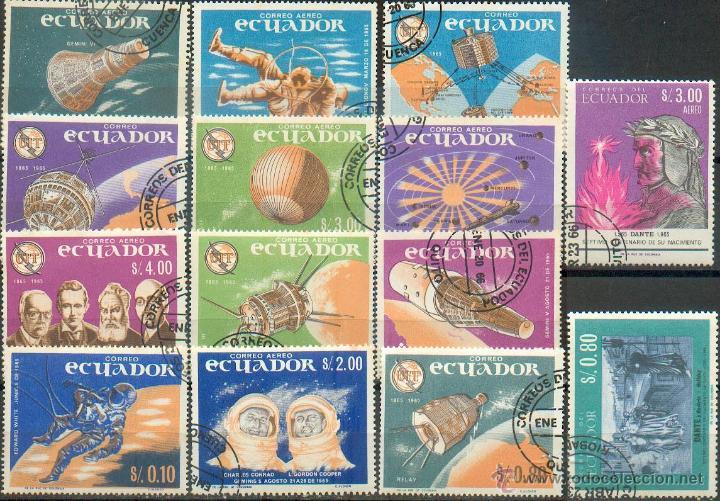 ECUADOR .- LOTE DE 14 GRANDES SELLOS (Sellos - Extranjero - América - Ecuador)