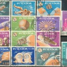 Sellos: ECUADOR .- LOTE DE 14 GRANDES SELLOS. Lote 45568376