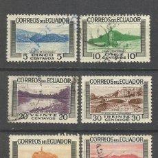 Sellos: ECUADOR YVERT NUM. 565/570 SERIE COMPLETA USADA. Lote 47386603