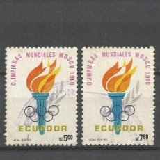 Sellos: ECUADOR JUEGOS OLIMPICOS DE MOSCU YVERT NUM. 996/997 SERIE COMPLETA USADA. Lote 47386630