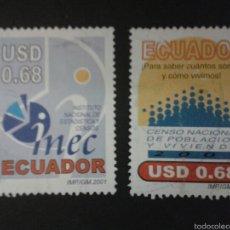 Sellos: SELLOS DE ECUADOR. YVERT 1551/2. SERIE COMPLETA USADA. . Lote 53277635