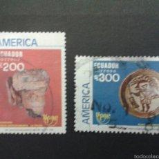 Sellos: SELLOS DE ECUADOR. AMÉRICA UPAEP. YVERT 1195/6. SERIE COMPLETA USADA.. Lote 53277774