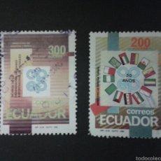 Sellos: SELLOS DE ECUADOR. YVERT 1212/3. SERIE COMPLETA USADA. . Lote 53303752