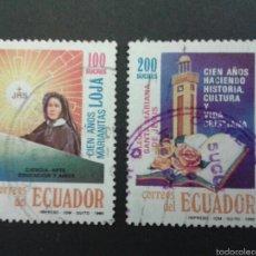 Sellos: SELLOS DE ECUADOR. YVERT 1201/2. SERIE COMPLETA USADA. . Lote 53303823