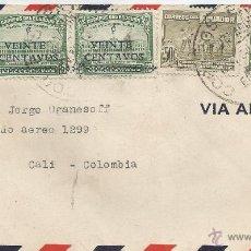 Sellos: ECUADOR CORREO AEREO - 1945 - HISTORIA POSTAL CARTA VOLADA DESDE ECUADOR A COLOMBIA. . Lote 53321423