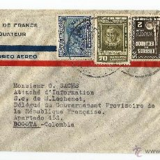 Sellos: ECUADOR CORREO AEREO 1944 CARTA VOLADA. Lote 54544781
