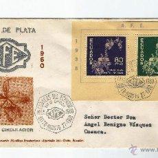 Sellos: ECUADOR PRIMER DIA 1960. QUITO- CUENCA 27 DE AGOSTO 1960. Lote 54544884