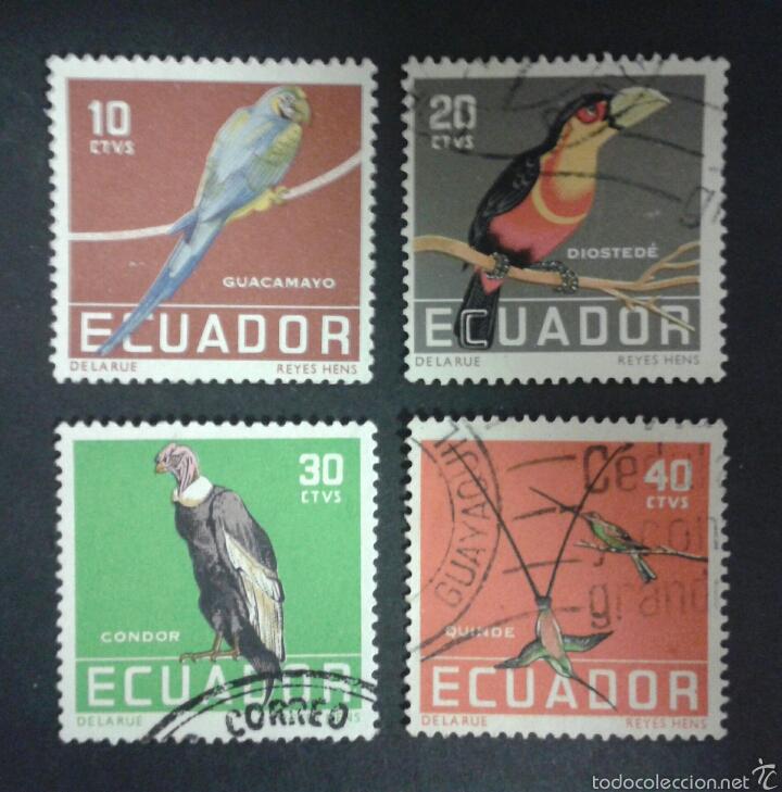 SELLOS DE ECUADOR. FAUNA. AVES. YVERT 632/5. SERIE COMPLETA USADA. (Sellos - Extranjero - América - Ecuador)