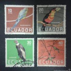 Briefmarken - SELLOS DE ECUADOR. FAUNA. AVES. YVERT 632/5. SERIE COMPLETA USADA. - 55326948