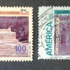 Sellos: SELLOS DE ECUADOR. AMÉRICA UPAEP. YVERT 1220/1. SERIE COMPLETA USADA. Lote 55346148