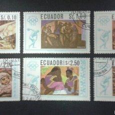 Sellos: SELLOS DE ECUADOR. DEPORTES. YVERT 775/6 + A-478/81. SERIE COMPLETA USADA.. Lote 55346658