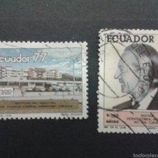Sellos: SELLOS DE ECUADOR. YVERT 973 + A-654. SERIE COMPLETA USADA. . Lote 55346773