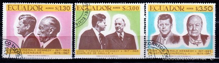 ECUADOR 1967 (16-400) SERIE: 50º ANIVERSARIO JFK *,MH (Sellos - Extranjero - América - Ecuador)