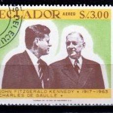 Sellos: ECUADOR 1967 (16-400) SERIE: 50º ANIVERSARIO JFK *,MH. Lote 57224337