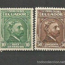 Sellos: ECUADOR YVERT NUM. 402/403 ** SERIE COMPLETA SIN FIJASELLOS. Lote 150368414
