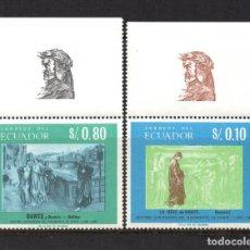 Sellos: ECUADOR 760/61** - AÑO 1967 - 7º CENTENARIO DE LA MUERTE DE DANTE ALIGHIERI. Lote 62046976