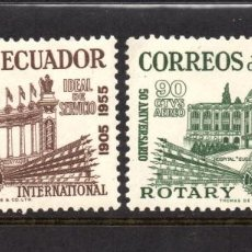 Sellos: ECUADOR AEREO 277/78** - AÑO 1955 - 50º ANIVERSARIO DE ROTARY INTERNACIONAL. Lote 62047364