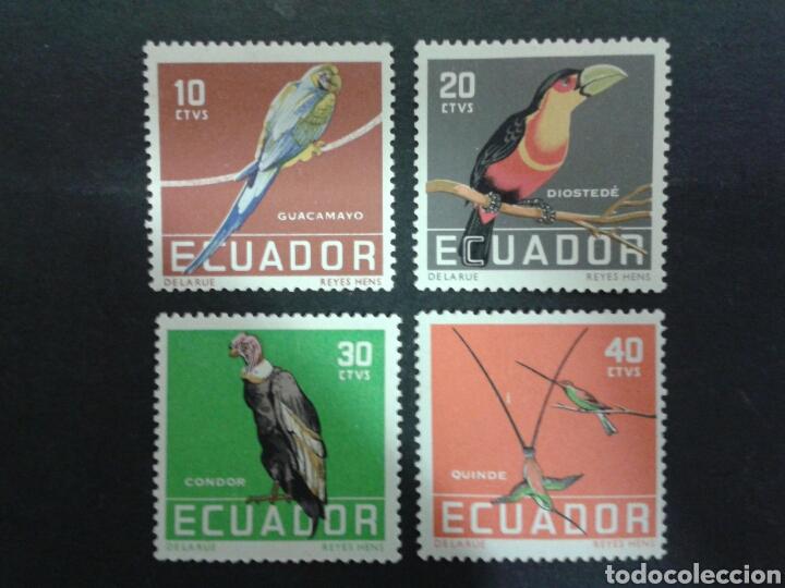 SELLOS DE ECUADOR. YVERT 632/5. SERIE COMPLETA NUEVA CON CHARNELA. FAUNA. AVES. (Sellos - Extranjero - América - Ecuador)