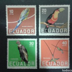 Briefmarken - SELLOS DE ECUADOR. YVERT 632/5. SERIE COMPLETA NUEVA CON CHARNELA. FAUNA. AVES. - 68329385