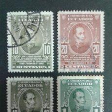 Briefmarken - SELLOS DE ECUADOR. YVERT 437/40. FALTA EL 441. SERIE CORTA USADA. - 68962993