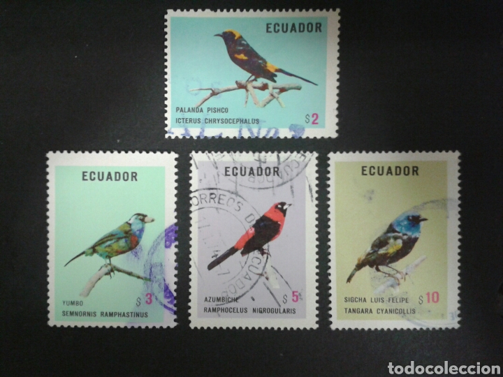 SELLOS DE ECUADOR. YVERT 899/902. FALTA EL 898. SERIE CORTA USADA. FAUNA. AVES. (Sellos - Extranjero - América - Ecuador)