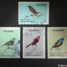 Briefmarken - SELLOS DE ECUADOR. YVERT 899/902. FALTA EL 898. SERIE CORTA USADA. FAUNA. AVES. - 72271945