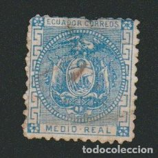 Selos: ECUADOR.1872.1/2.REAL.YBERT Nº 5.USADO.. Lote 76536895