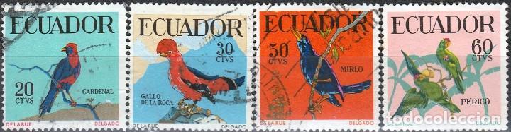 1958.ECUADOR. SERIE. PAJAROS. . *.MH(17-535) (Sellos - Extranjero - América - Ecuador)