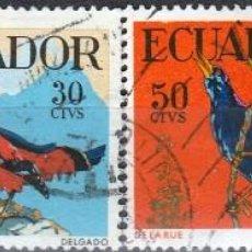 Sellos: 1958.ECUADOR. SERIE. PAJAROS. . *.MH(17-535). Lote 79091413