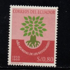 Sellos: ECUADOR 655** - AÑO 1960 - AÑO MUNDIAL DEL REFUGIADO. Lote 84789472