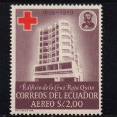 Sellos: ECUADOR AEREO 376** - AÑO 1960 - CENTENARIO DE LA IDEA DE LA CRUZ ROJA. Lote 84789716