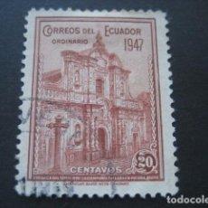 Sellos: SELLO CORREOS DEL ECUADOR 1947 20 CENTAVOS. Lote 91851350