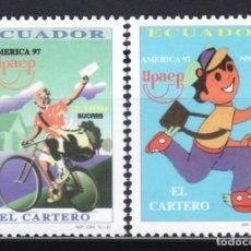 Sellos: ECUADOR 1997 TEMA AMERICA UPAEP 1399/00 EL CARTERO 2V.. Lote 102926647
